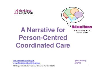 A Narrative for PersonCentred Coordinated Care        About this Narrative   PowerPoint PPT Presentation