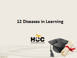 12 Diseases in Learning