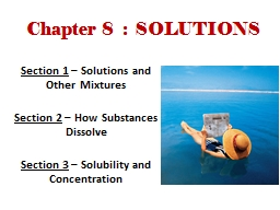 Chapter 8  :  SOLUTIONS