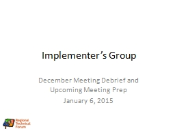 Implementer's Group