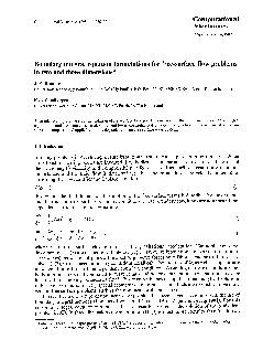 Computational Mechanics    Computational Mechanics  SpringerVerlag  Boundary integral equation formulations for freesurface flow problems in two and three dimensions J