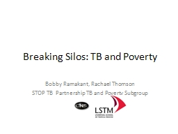 Breaking Silos: TB and Poverty