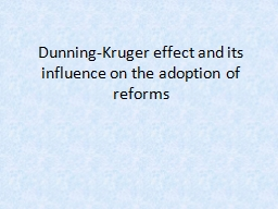 Dunning-Kruger effect and its influence on the adoption of
