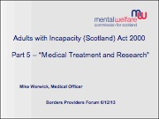 Adults with Incapacity (Scotland) Act 2000