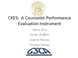 CKES:  A Counselor Performance Evaluation Instrument