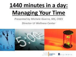 1440 minutes in a day: Managing Your Time PowerPoint PPT Presentation