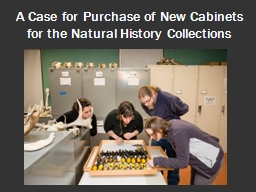 A Case for Purchase of New Cabinets for the Natural History