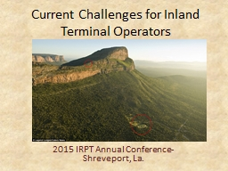 Current Challenges for Inland Terminal Operators