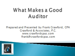 What Makes a Good Auditor