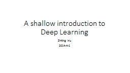 A shallow introduction to