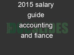 2015 salary guide accounting and fiance