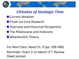 Climates of Geologic Time