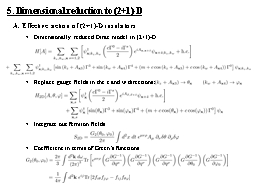 5. Dimensional reduction to (2+1)-D PowerPoint PPT Presentation