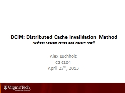 DCIM: Distributed Cache