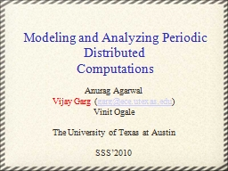 Modeling and Analyzing Periodic Distributed