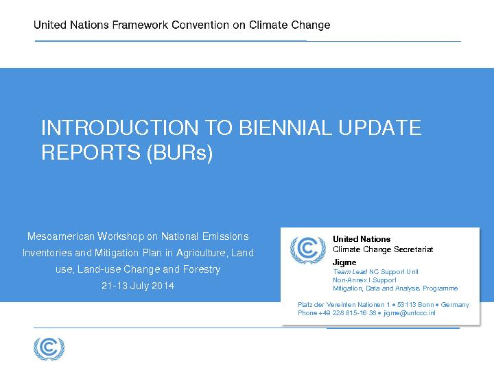 INTRODUCTION TO BIENNIAL UPDATE