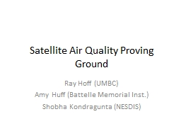 Satellite Air Quality Proving Ground PowerPoint PPT Presentation