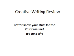 Creative Writing Review