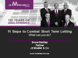 11 Steps to Combat Short Term Letting PowerPoint PPT Presentation