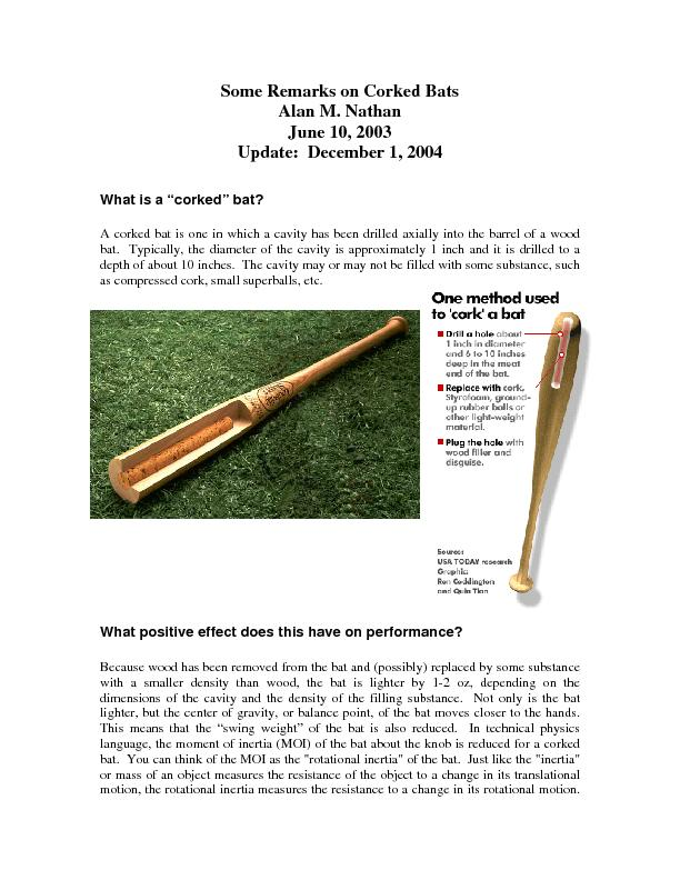 Some Remarks on Corked Bats
