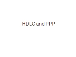HDLC and PPP