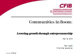 Communities in Boom:
