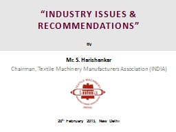 """""""INDUSTRY ISSUES & RECOMMENDATIONS"""" PowerPoint PPT Presentation"""