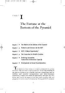 Chapter  The Market at the Bottom of the Pyramid Chapter  Products and Services for the BOP Chapter  BOP A Global Opportunity Chapter  The Ecosystem for Wealth Creation Chapter  Reducing Corruption r PowerPoint PPT Presentation