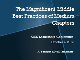 The Magnificent Middle PowerPoint PPT Presentation