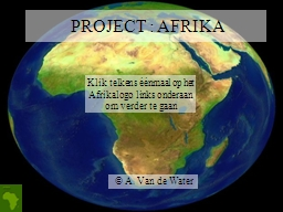 PROJECT : AFRIKA