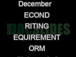 Created by ASU  December   ECOND RITING EQUIREMENT ORM Statement of Completion D