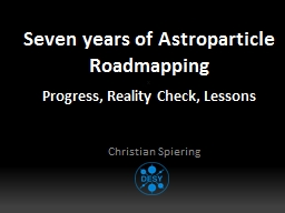 Seven years of Astroparticle Roadmapping
