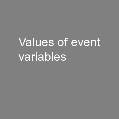 Values of Event Variables