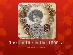 Russian Life in the 1800's