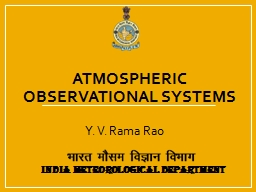 Atmospheric Observational systems
