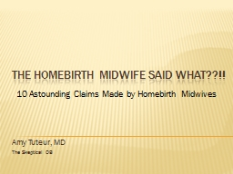 The Homebirth Midwife said What??!! PowerPoint PPT Presentation