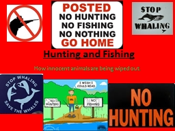 Hunting and Fishing PowerPoint PPT Presentation