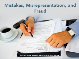 Mistakes, Misrepresentation, and Fraud PowerPoint PPT Presentation