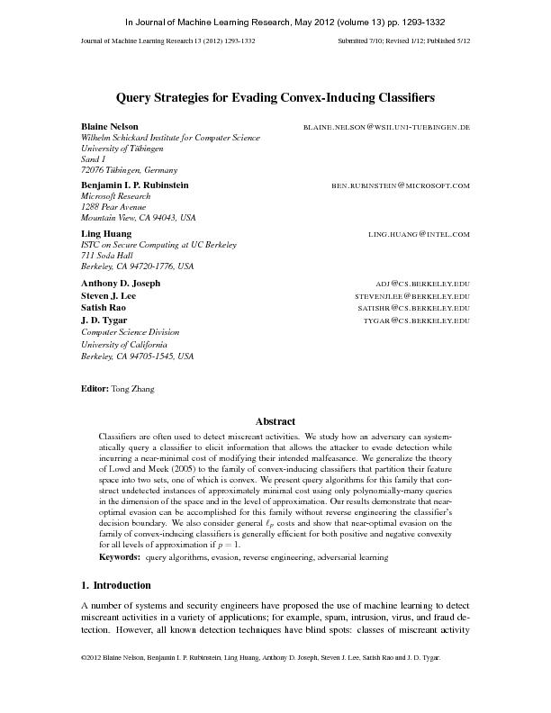 JournalofMachineLearningResearch13(2012)1293-1332Submitted7/10;Revised