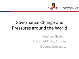 Governance Change and Pressures around the World