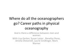 Where do all the oceanographers go? Career paths in physica
