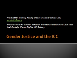 Gender Justice and the ICC