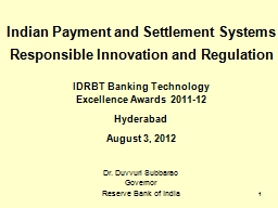1 Indian Payment and Settlement Systems