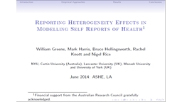 Inflated Responses in Self-Assessed Health