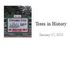 Trees in History