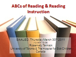 ABCs of Reading & Reading Instruction PowerPoint PPT Presentation