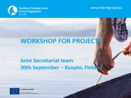 WORKSHOP FOR PROJECTS PowerPoint PPT Presentation