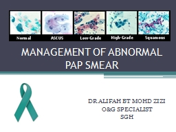 MANAGEMENT OF ABNORMAL