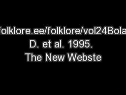www.folklore.ee/folklore/vol24Bolander, D. et al. 1995. The New Webste