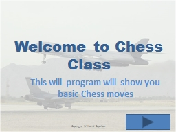 Welcome to Chess Class